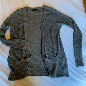 American Eagle grey knit long cardigan